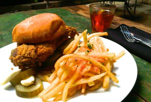 Chick-syl-vain sandwich at Sylvain