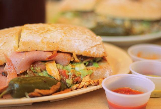 Cubana sandwich at El Rey Del Taco
