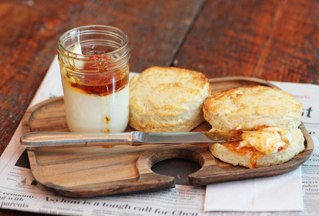 Proper Southern Biscuits with Pepper Jelly & Cream Cheese