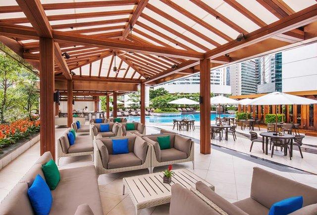 JW Marriott rooftop pool area