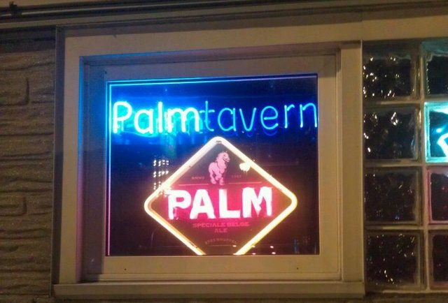 The Palm Tavern neon sign