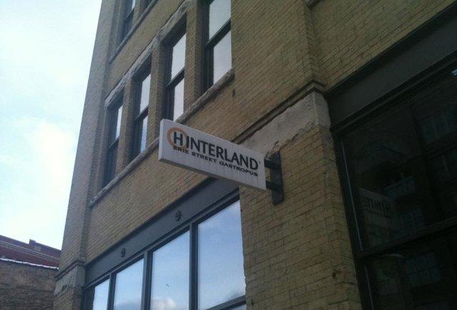 Hinterland exterior sign