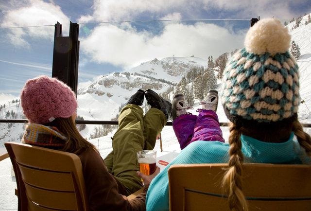 Après ski time at Jackson Hole
