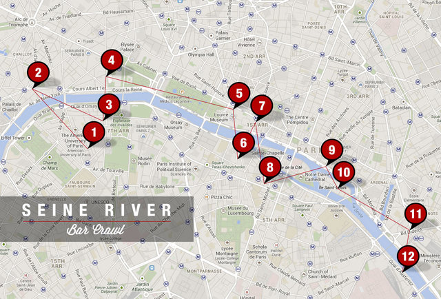 Seine River Bar Crawl