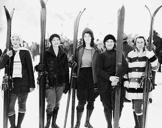 Ladies skiing