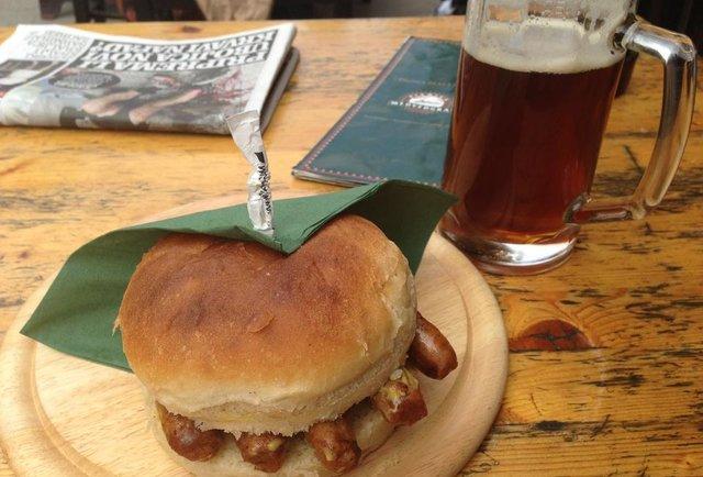 sausages on a bun