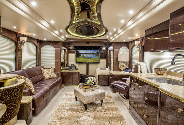 Luxury Rv Travel Like A Rockstar In These Palatial