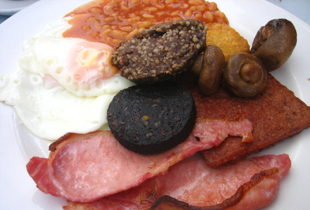 Scottish Breakfast Sausage Full Scottish Breakfast