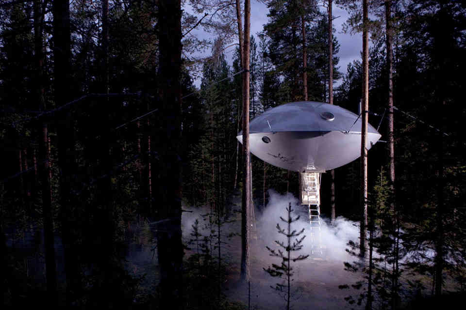 The UFO at Treehotel
