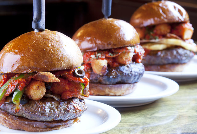 Slater S 50 50 Pizza Burger Is The February Burger Of The