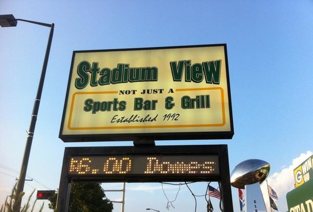 Stadium View sign