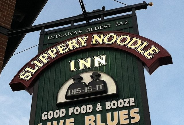 slippery noodle sign