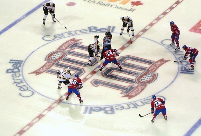 The Montreal Canadiens vs. the Boston Bruins