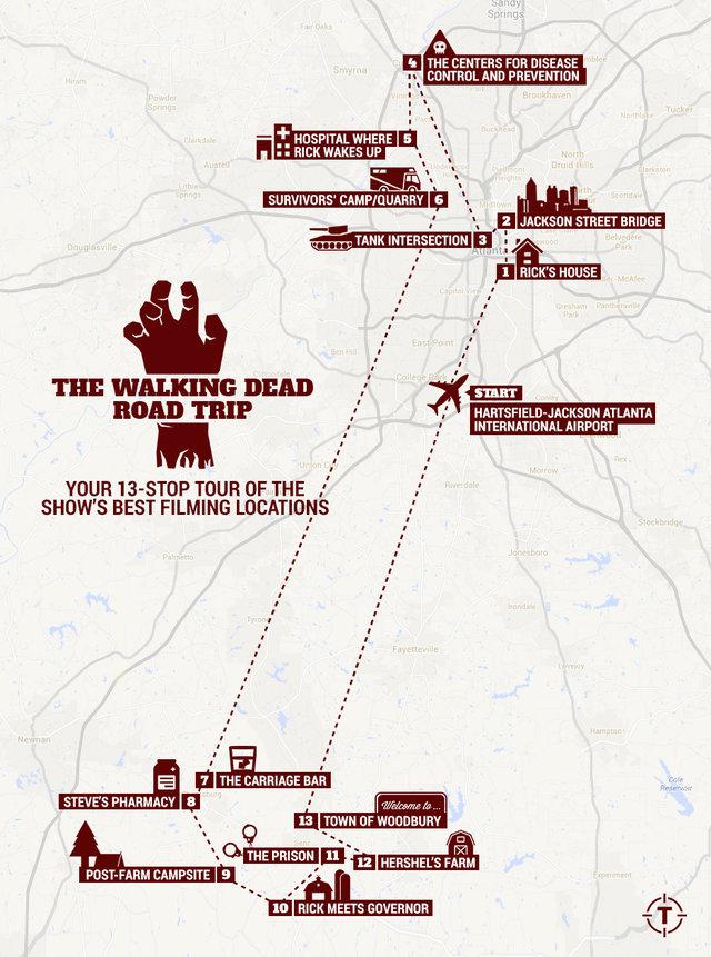 Walking Dead Filming Locations Atlanta Map Amp Tour