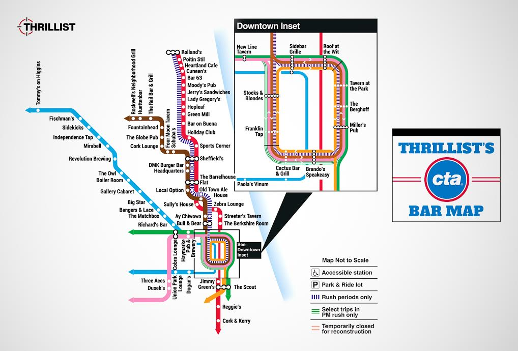 Chicagos First CTA Bar Map Community BeerAdvocate