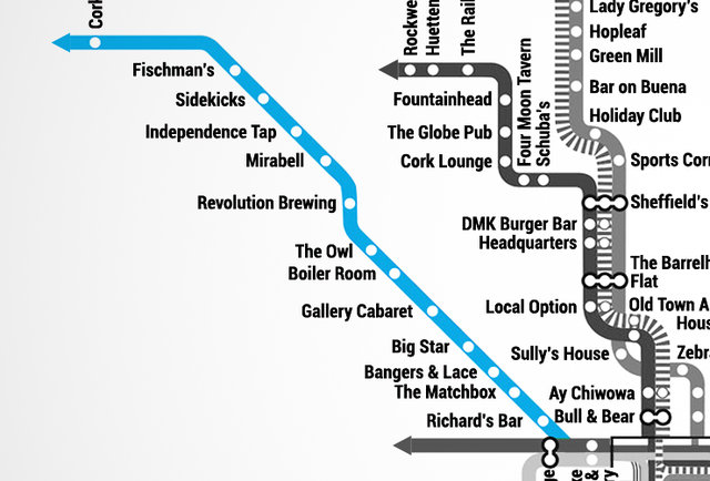 Chicago Bar Map Is The Best Not Made By CTA