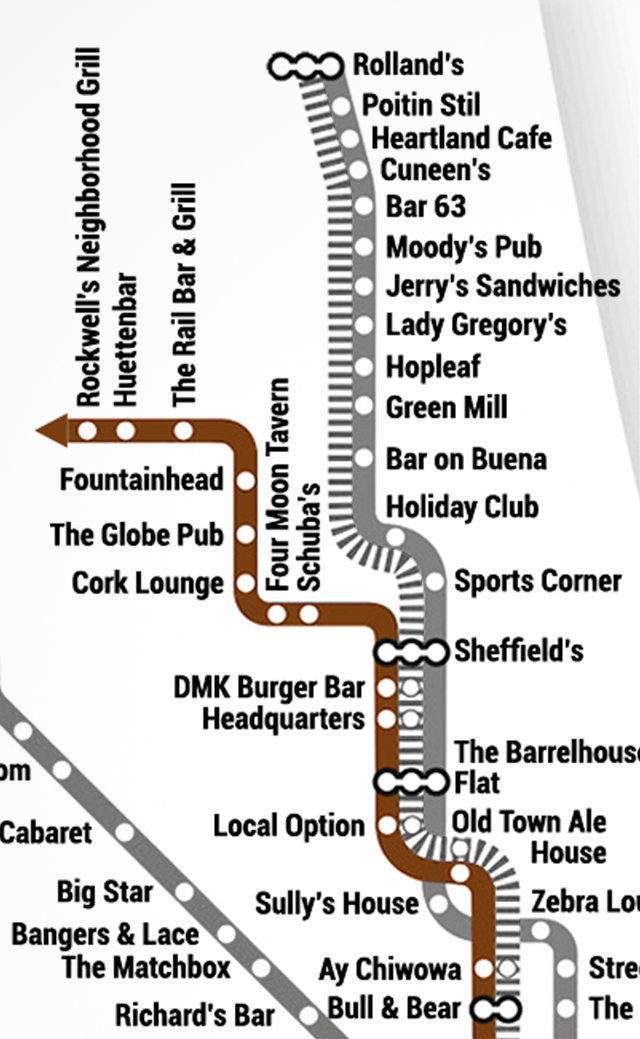 ACME Hotel A New Chicago CTA Map - Chicago brown line map