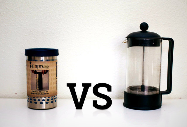 Coffee Maker Vs Coffee Maker : Best Coffee Maker - The Impress Coffee Maker Vs. A Regular Old French Press - Thrillist