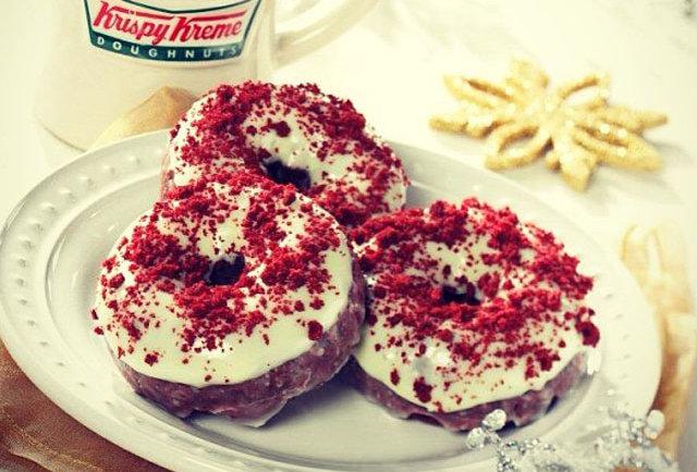 Krispy Kreme Oreo Donut 2015 Krispy Kreme Red Velvet Donuts