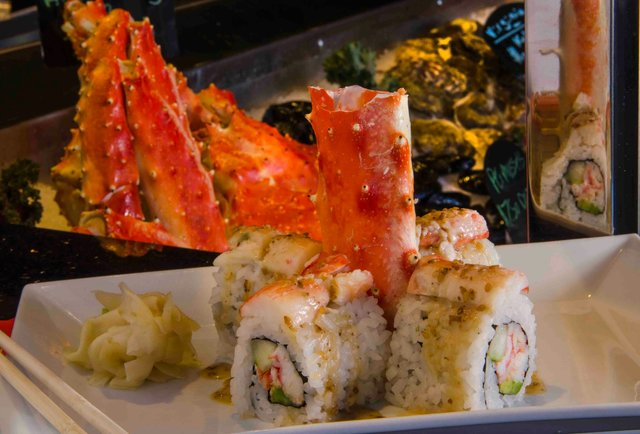 King Crab Roll at Tsukuro Ft. Lauderdale