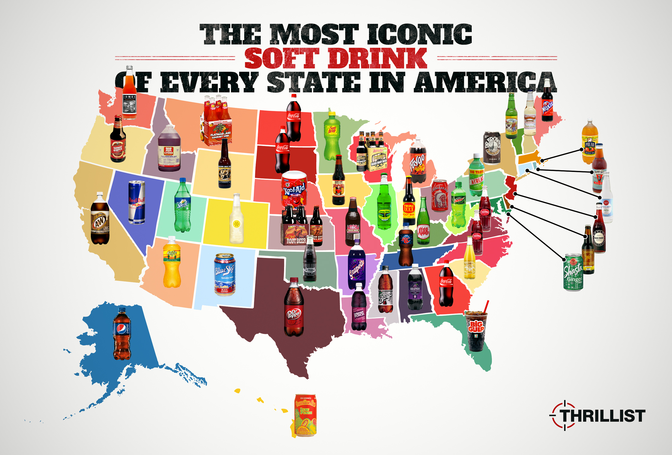 Best Soft Drink In Every State Best Soda In Every State Thrillist - Soda-map-of-the-us