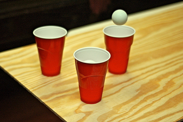 Beer pong history why it 39 s called beirut fun drinking games - Beer pong table triangle dimensions ...
