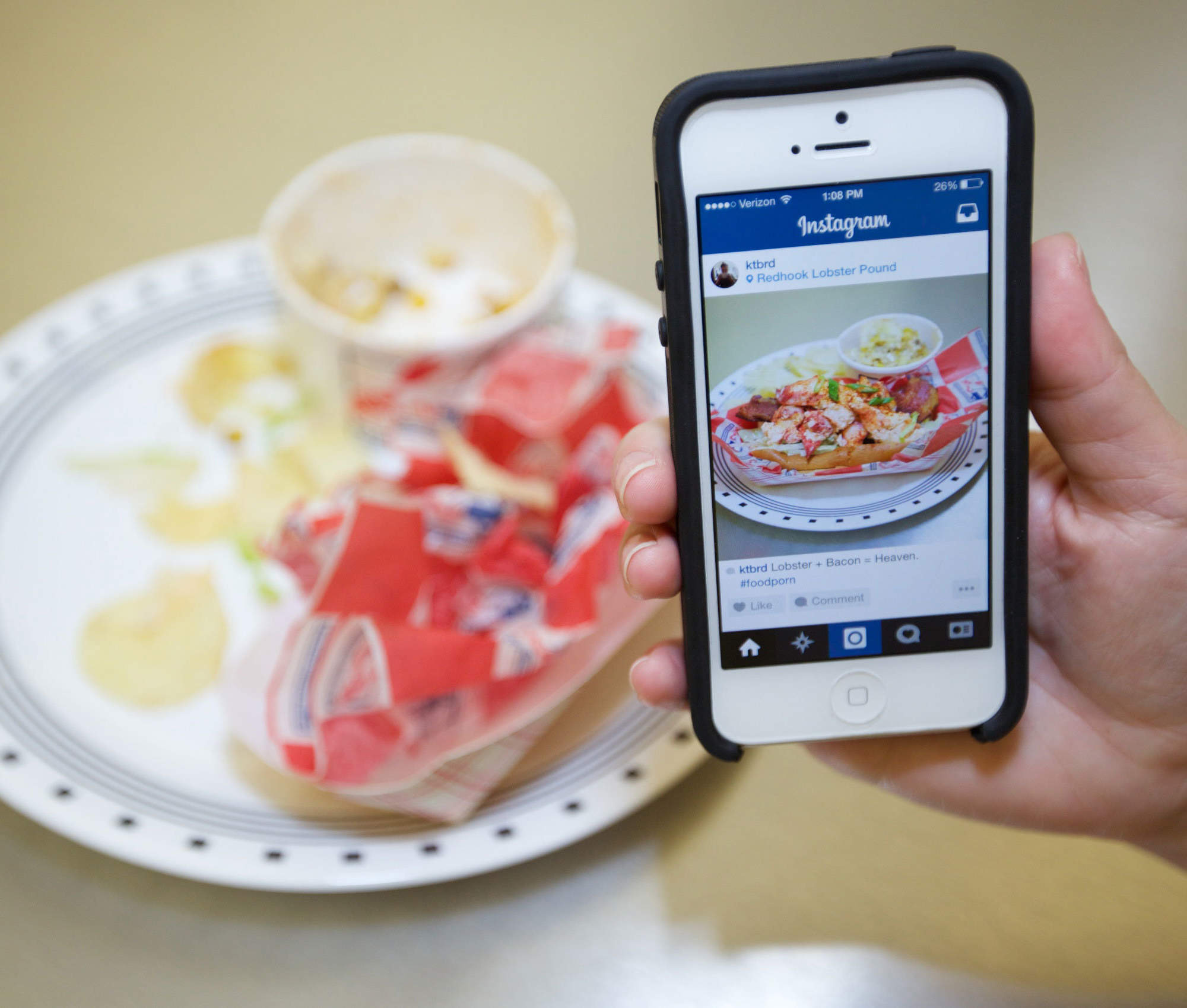 Social Media and Food - Magazine cover