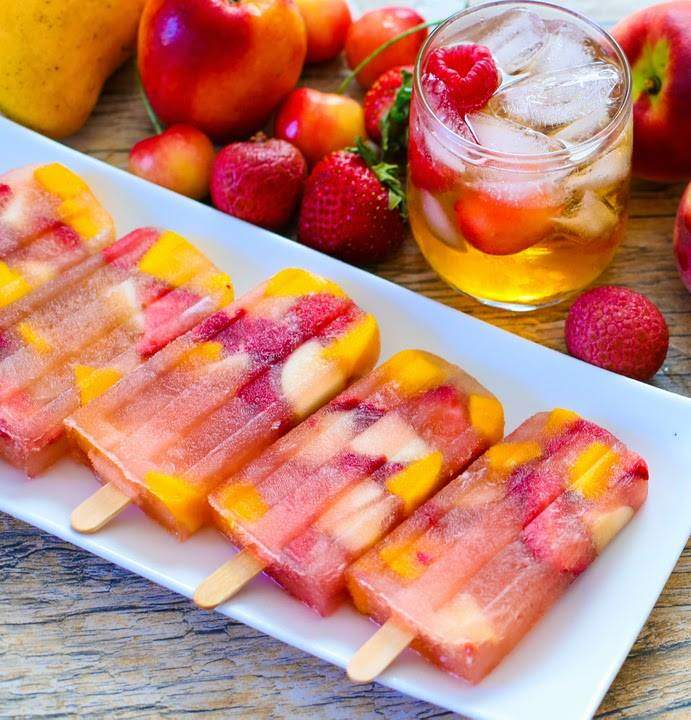 Finally, sangria on a stick