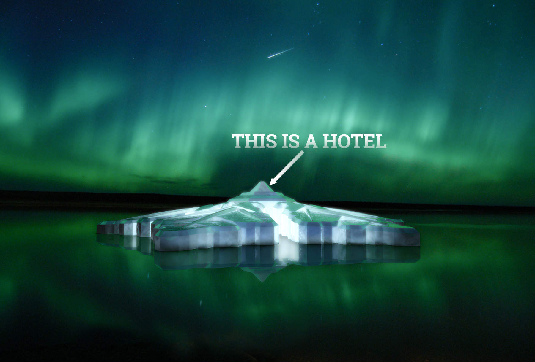 Watch the Northern Lights from this snowflake-shaped floating hotel