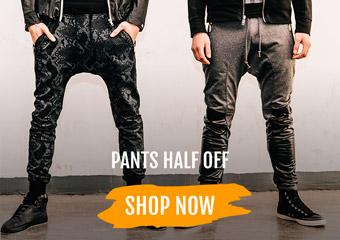 Pants Half Off
