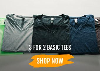 Basic Tees: 3 for 2