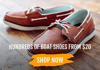 100s of boat shoes from $20