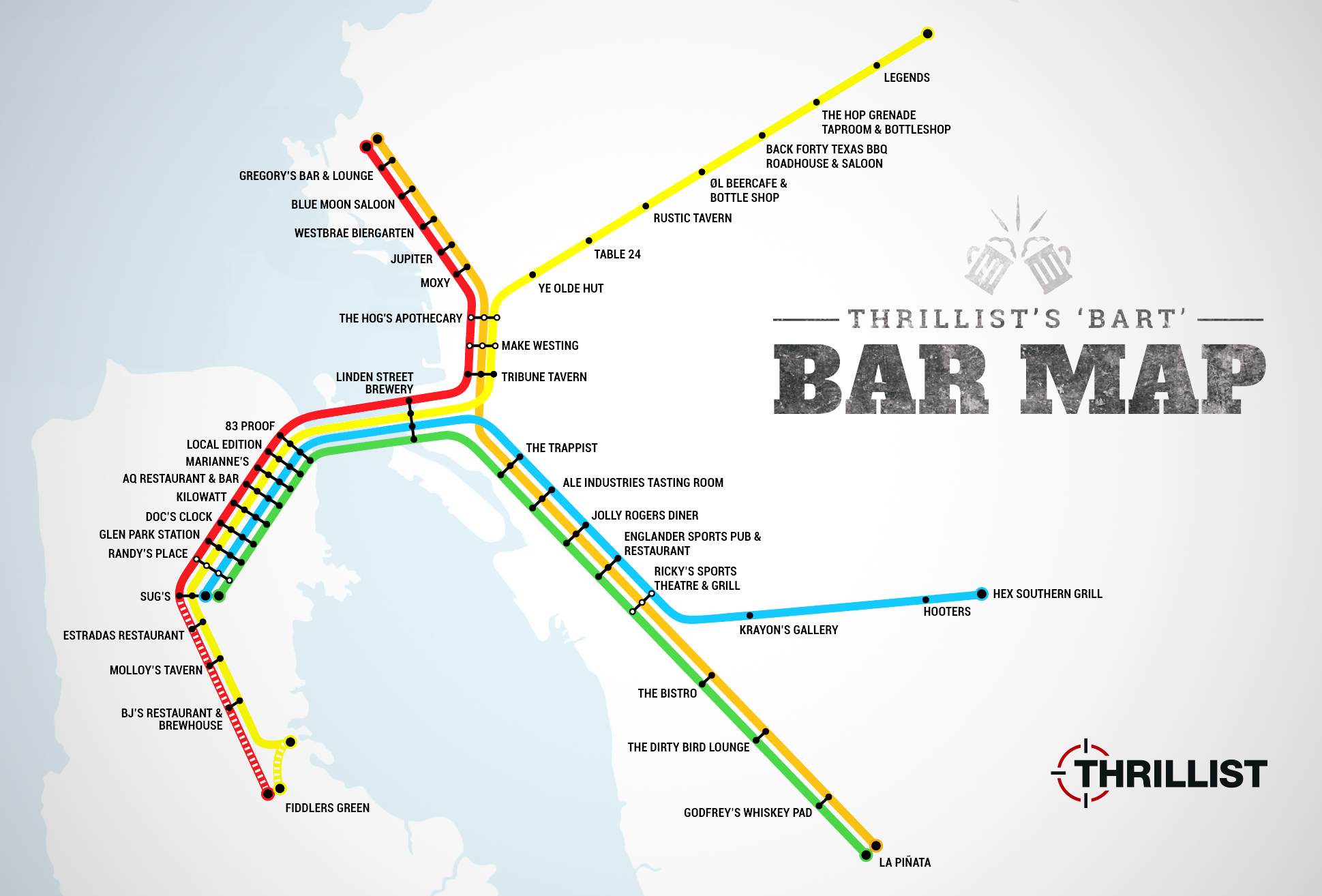 Best Bars Near Every BART Stop SF Oakland Bay Area Thrillist