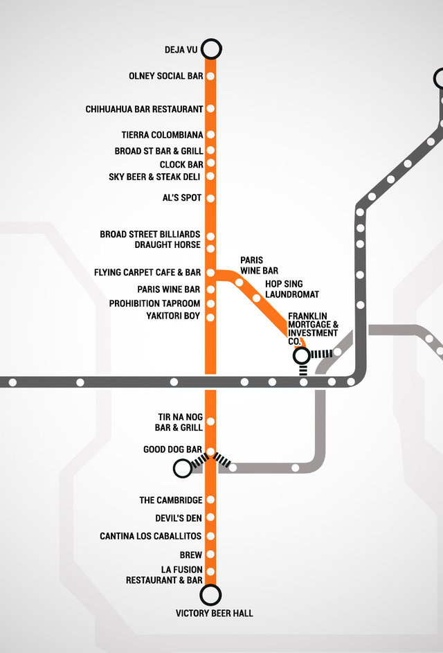 SEPTA Bar Map