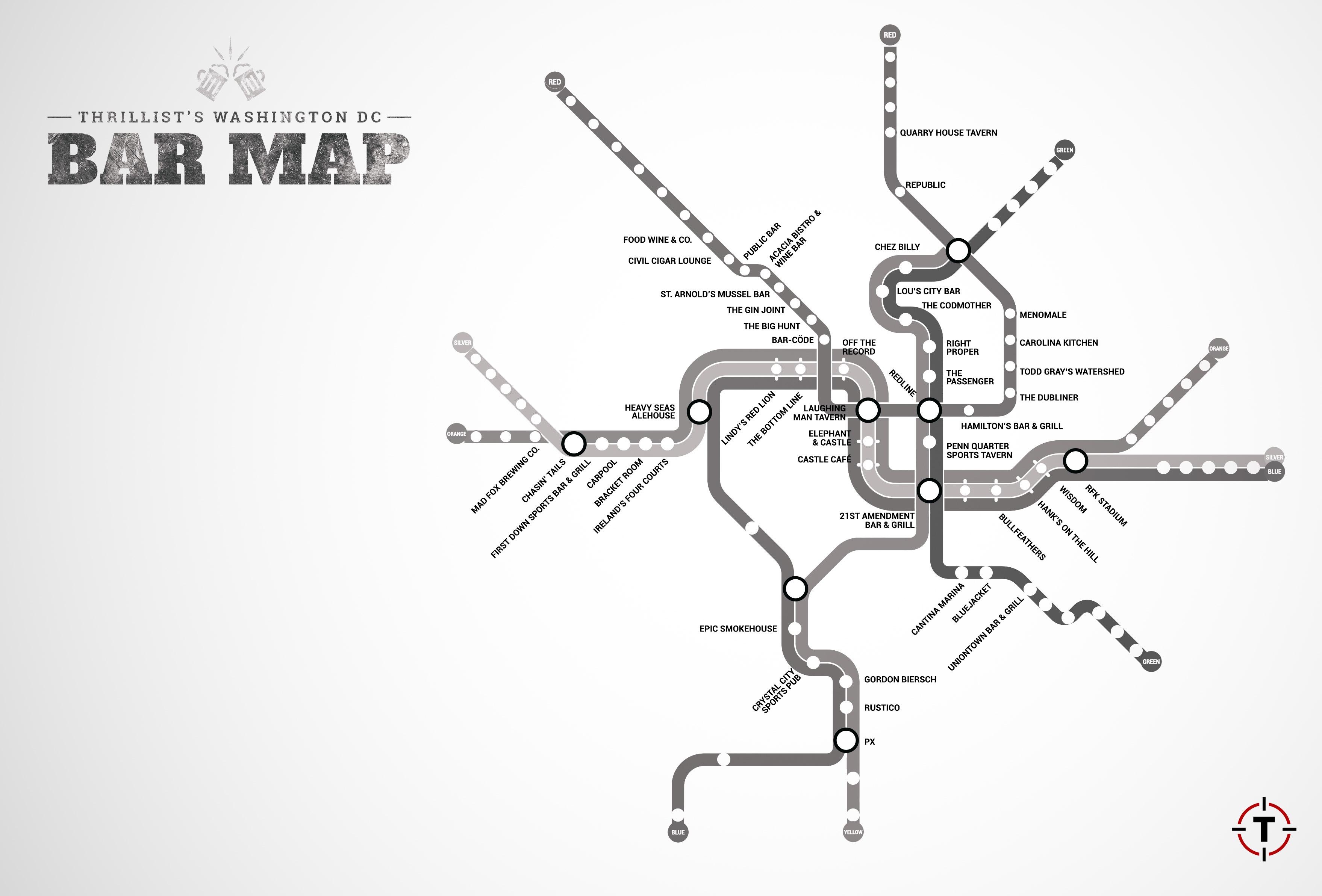 Washington DCs first map of bars near the Metro Thrillist