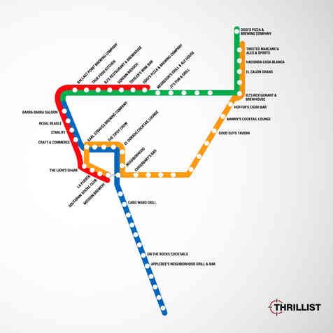 Trolleys San San Diego Trolley Bar Map