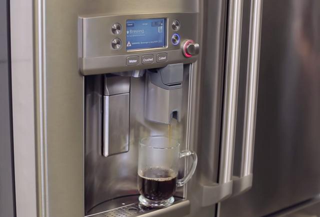 refrigerator with coffee machine