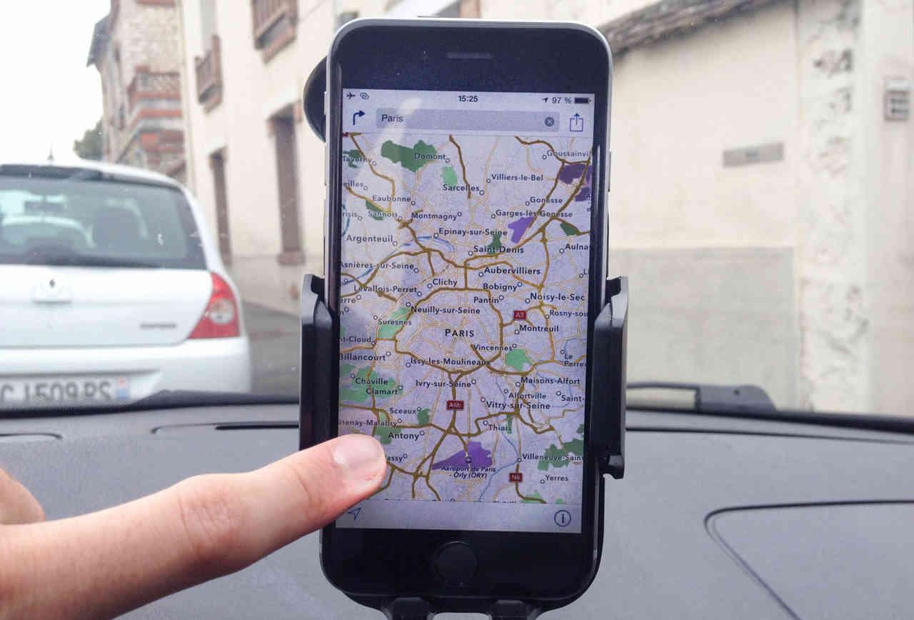 Как сделать айфон навигатором 110