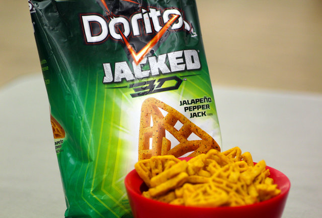 3D Doritos Back in Jacked Jalapeno Pepper Jack Flavor 3d Doritos