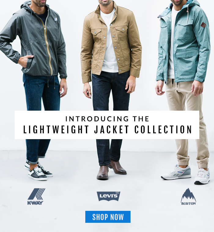 Introducing The Lightweight Jacket Collection.