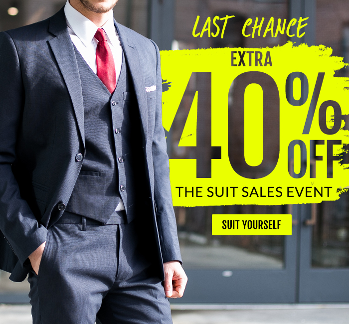 Last Chance: Extra 40% Off Suits.