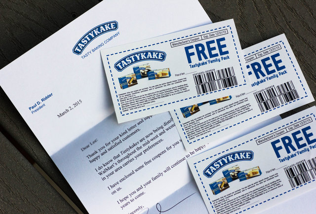 Companies that send coupons for feedback