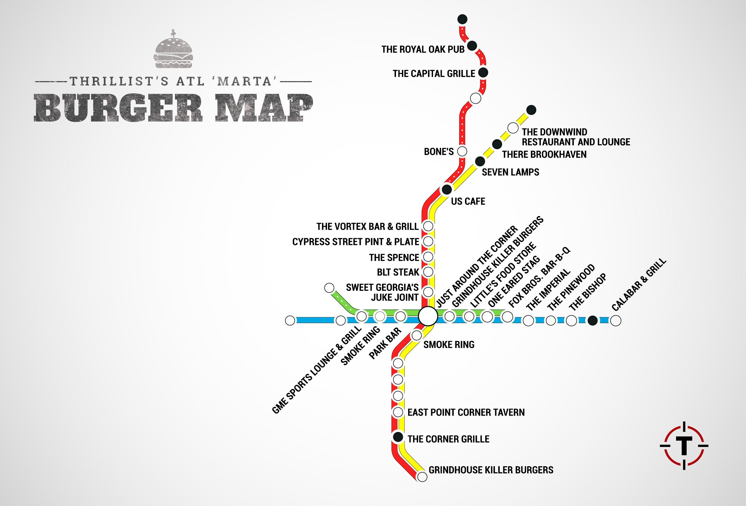 ATL\'s First Burger Transit Map -- The Best Burger In Atlanta At ...