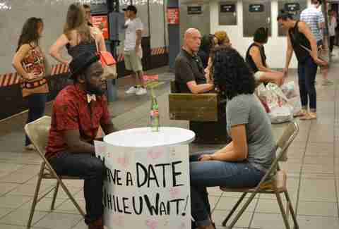 nyc subway dating Viewing nyc date while you wait introduces speed dating to the  man on a mission to decrease the negativity and boredom brought on by delayed subway.