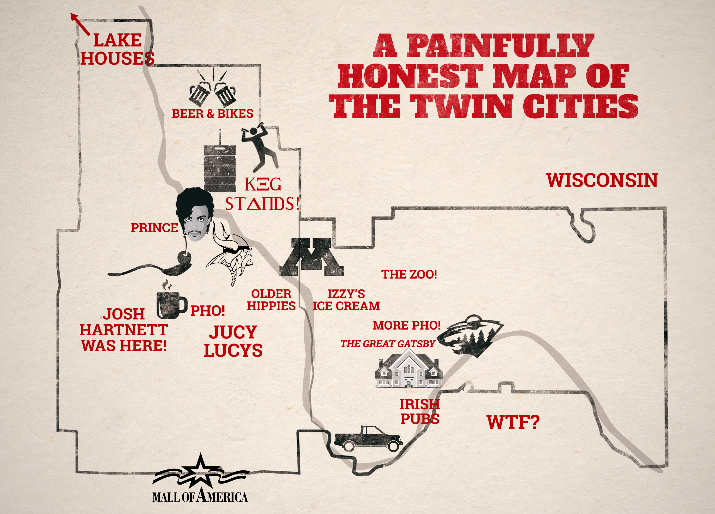 An Honest Map of the Twin Cities  MSPs Best Map Ever  Thrillist