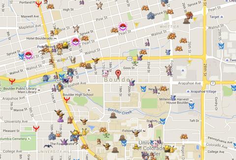 Pokemon Go Map Cheat Displays Exact Pokemon Locations