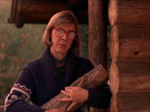 Share on Facebook     Pin it                            Catherine E. Coulson as'The Log Lady on'Twin Peaks |         ABC
