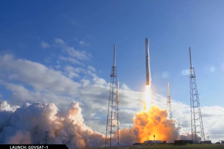Space X's Falcon 9 carries GovSat-1 communication satellite to orbit