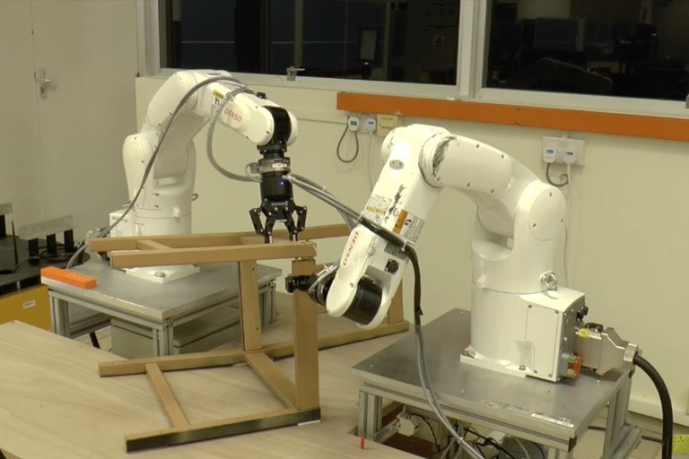 Robot Puts Together IKEA Chair