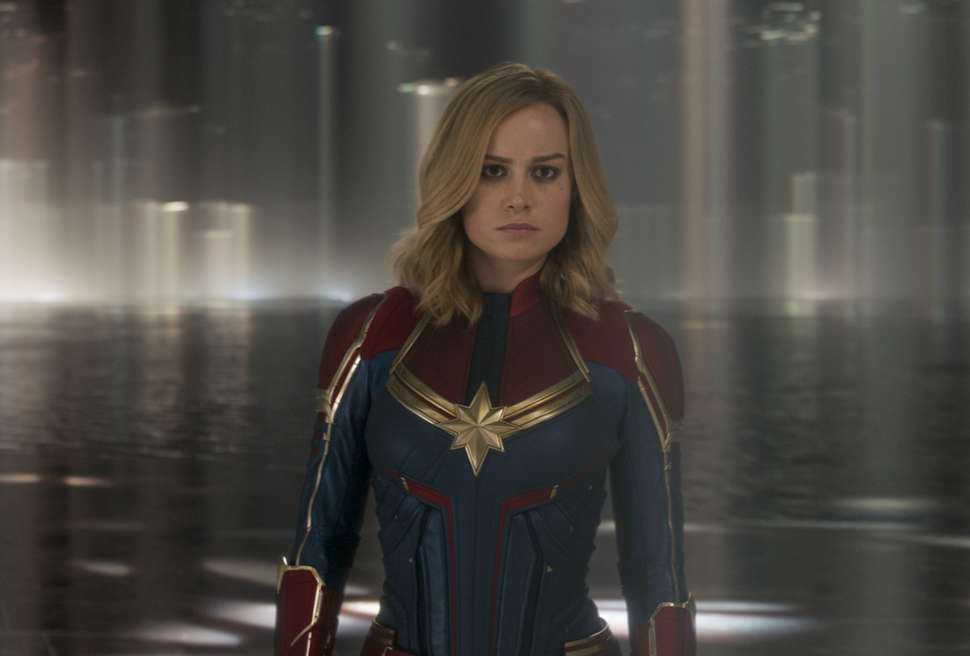 Captain Marvel looking for some good movies to watch. | Marvel Studios